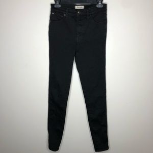 Madewell 10 Inch High Rise Skinny Jeans Carbondale
